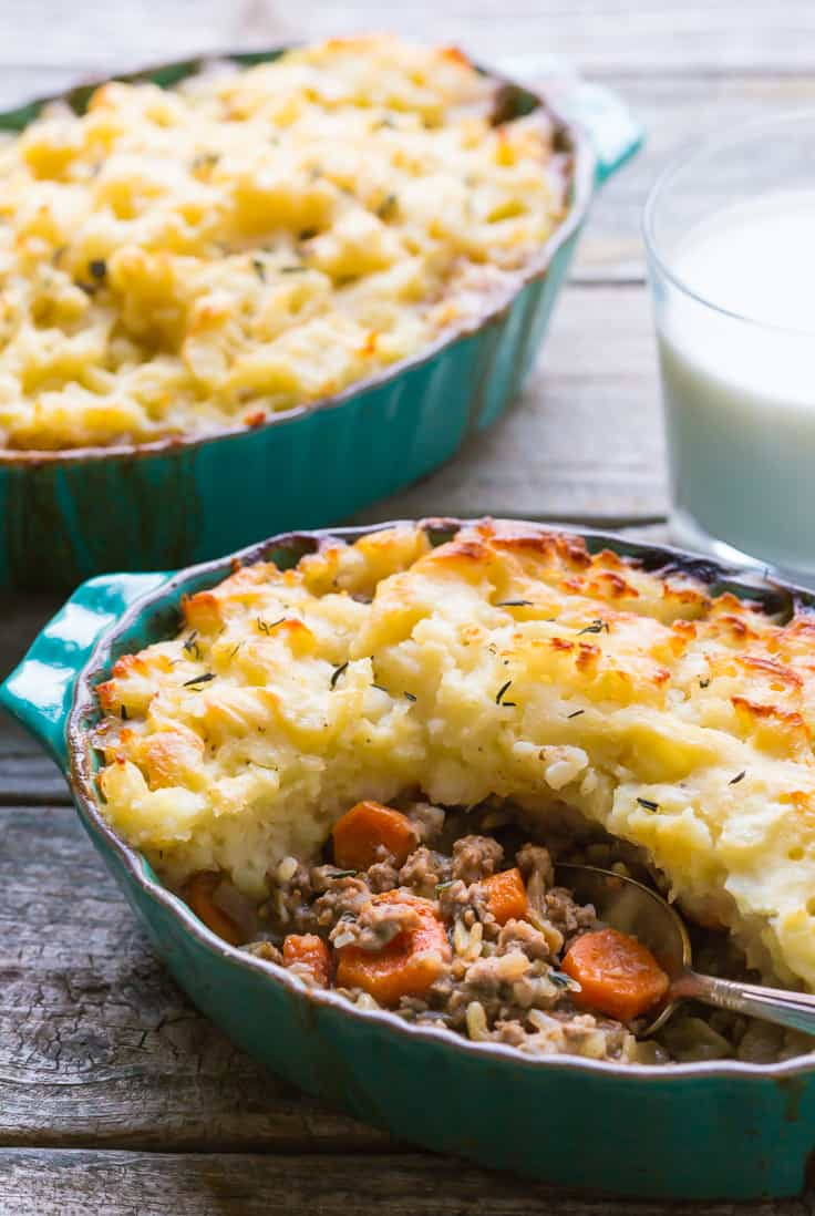 Shepherds Pie recipe in a bowl
