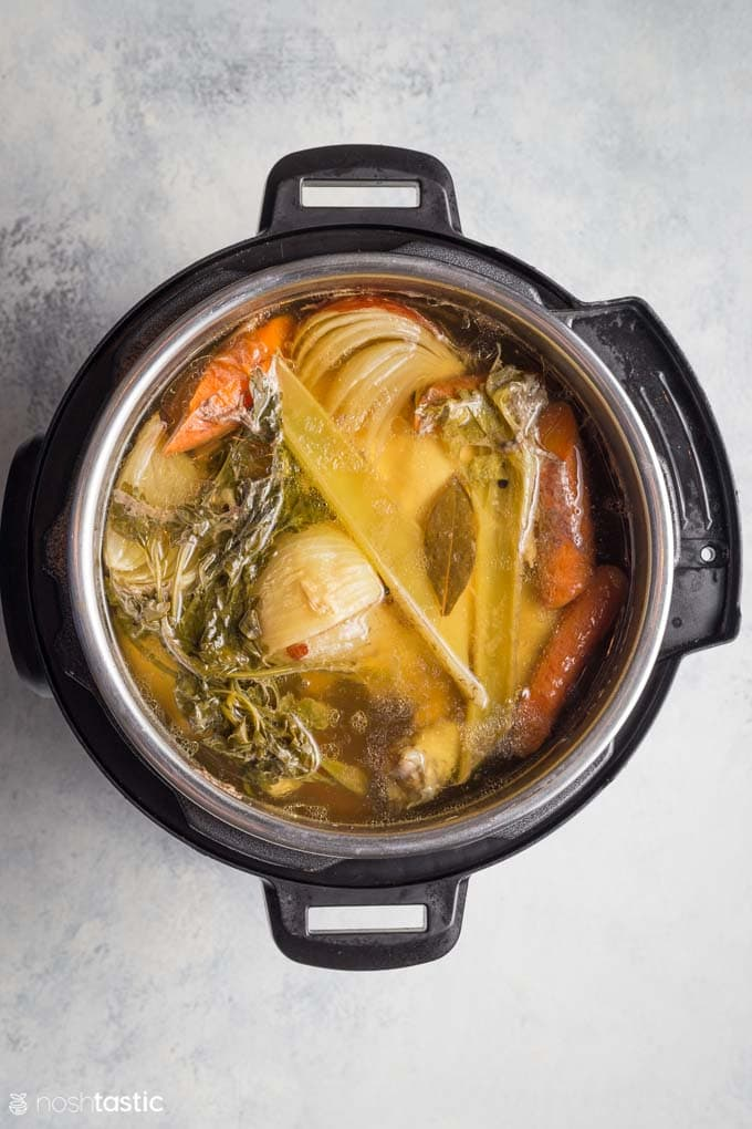 Cooked Instant pot chicken broth