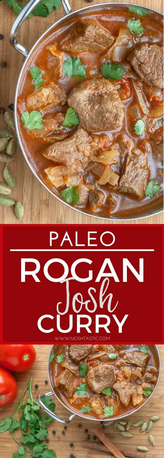 Delicious, easy Paleo Rogan Josh curry that can be made with beef or lamb.