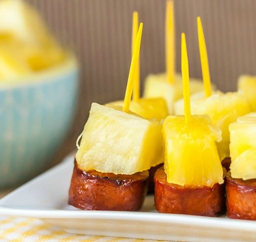 Quick sausage and pineapple appetizer bites these fun little sausage and pineapple party bites are easy to make in a hurry and forumfinder Images