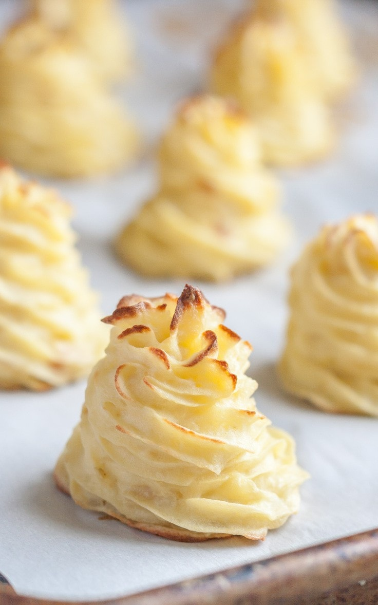 Absolutely gorgeous Duchess Potatoes, yet so unbelievably easy to make! | Gluten Free | Dairy Free | Paleo |
