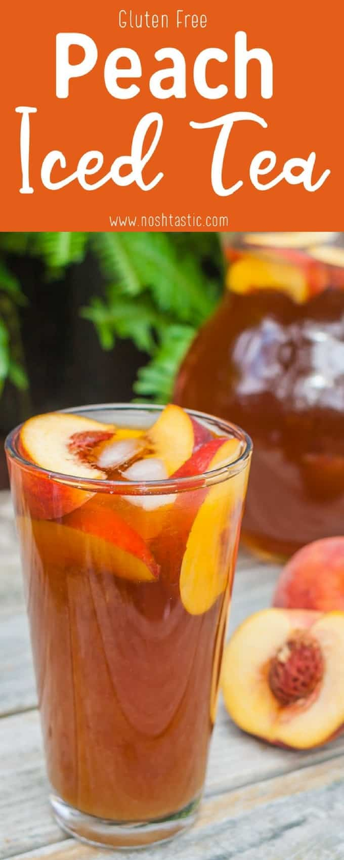 It's so simple and easy to make, Peach Iced Tea recipe made with real peaches and only three ingredients!