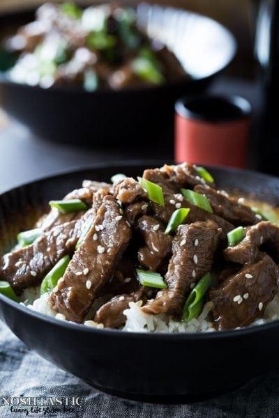 Gluten Free Mongolian Beef -PF Changs copycat recipe