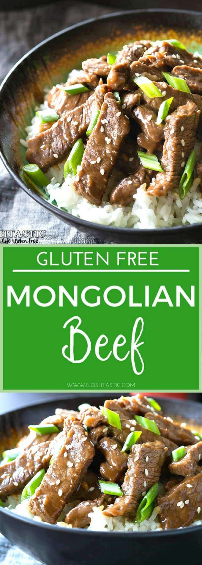 Gluten Free Mongolian Beef recipe you can make at home in ten minutes, a PF Chang's Copycat Recipe! Made with a lovely sauce of gluten free soy sauce, garlic, ginger and brown sugar.