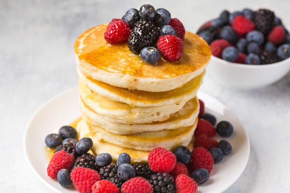 stack of gluten free pancakes