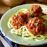 Paleo Italian Meatballs in Marinara Sauce, my MOST POPULAR recipe, insanely delicious and ready in 30 mins! Whole30,make with beef, pork or turkey.