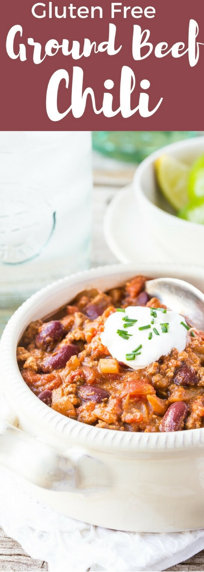 You'll love this Easy Gluten Free Beef Chili recipe! It's perfect comfort food and it so easy to cook. Made with ground beef it's a quick weeknight meal.