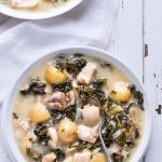 Dijon Chicken Stew with Kale and Potatoes - So simple to make and with ingredients you can find anywhere! Perfect comfort food your whole family will love! | gluten free | paleo | primal | dairy free |