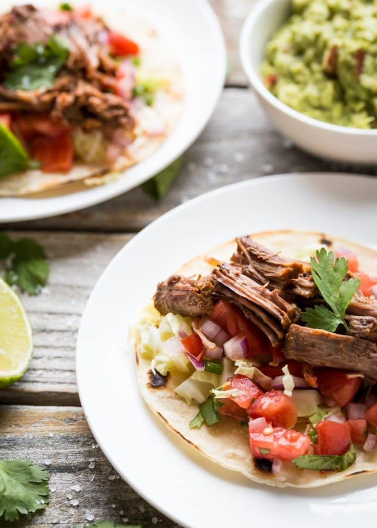 These are the BEST Gluten Free Pot Roast Tacos I've tried, SO delicious! If you've never made a pot roast before then this is the one for you - really!!
