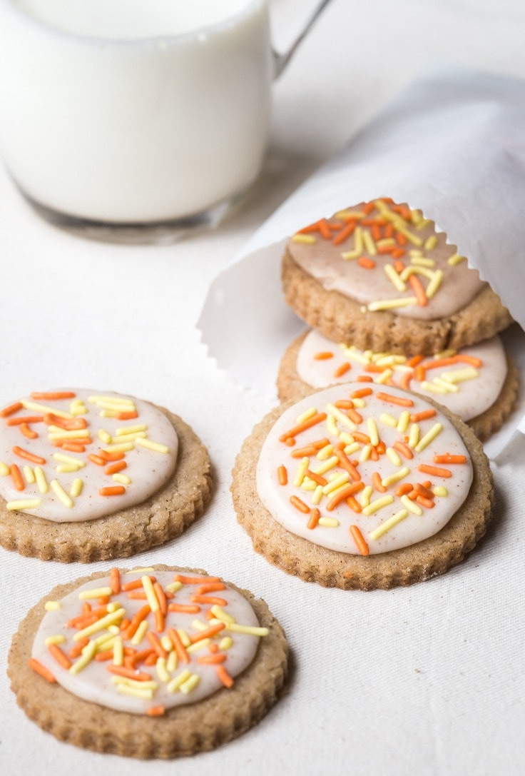 You'll love these tasty little Gluten Free Pumpkin Spice Funfetti Cookies | Dairy Free | Gluten Free |