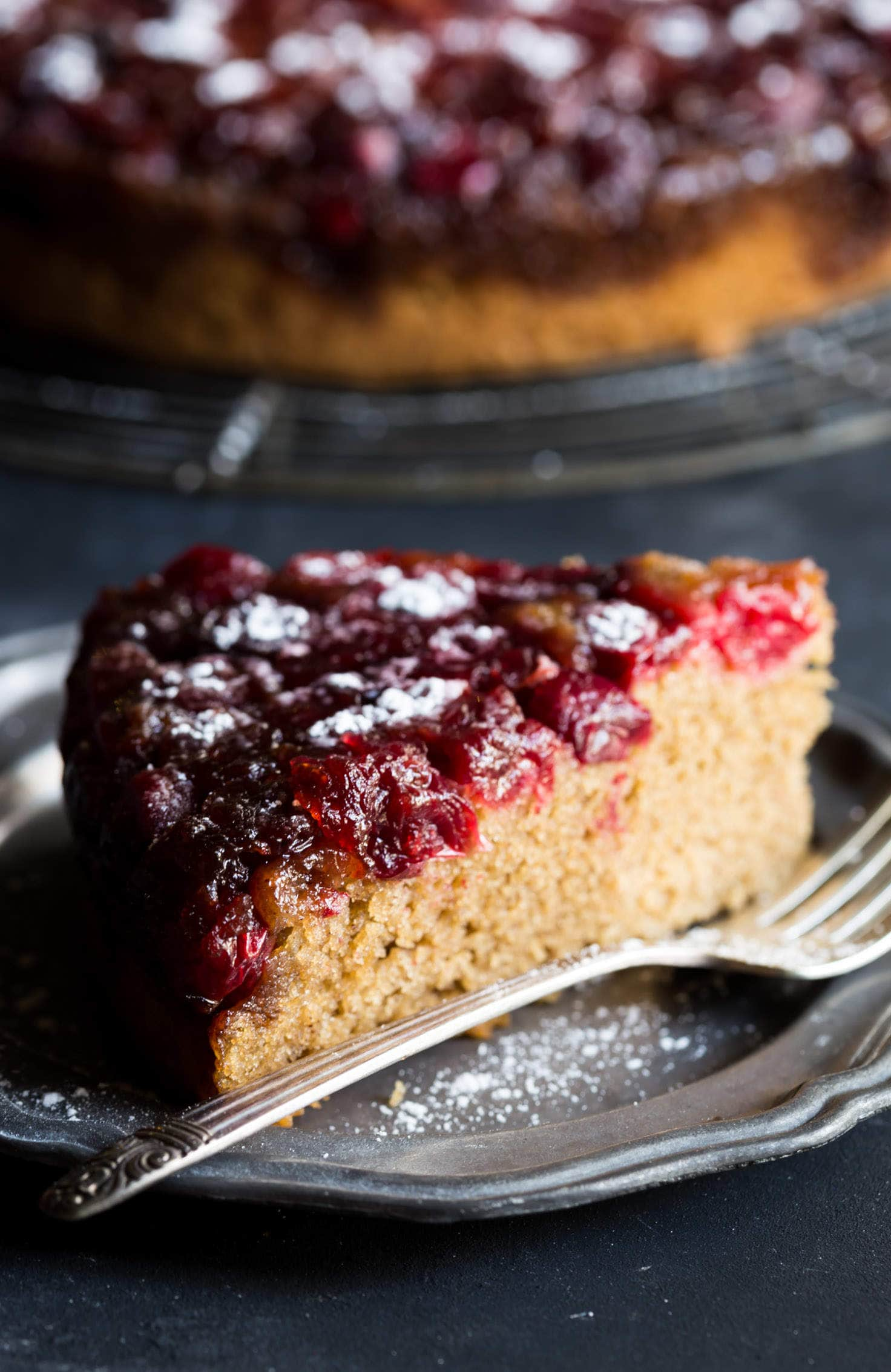A delightfully festive Gluten Free Cranberry Cake that is perfect for the holiday season!