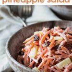 carrot and raisin pineapple salad