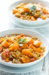 Easy Sweet Potato and Lentil Curry
