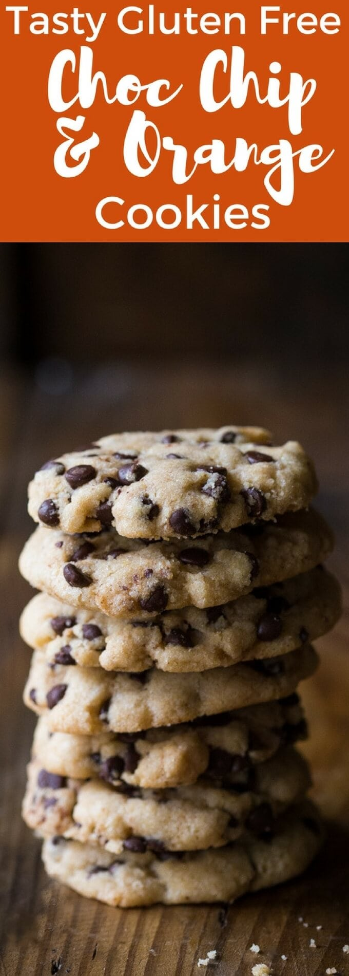 Gorgeous Gluten Free Chocolate Chip Cookies with a lovely Orange flavor! They're so easy to make and a perfect recipe to try if you're a new to gluten free baking.