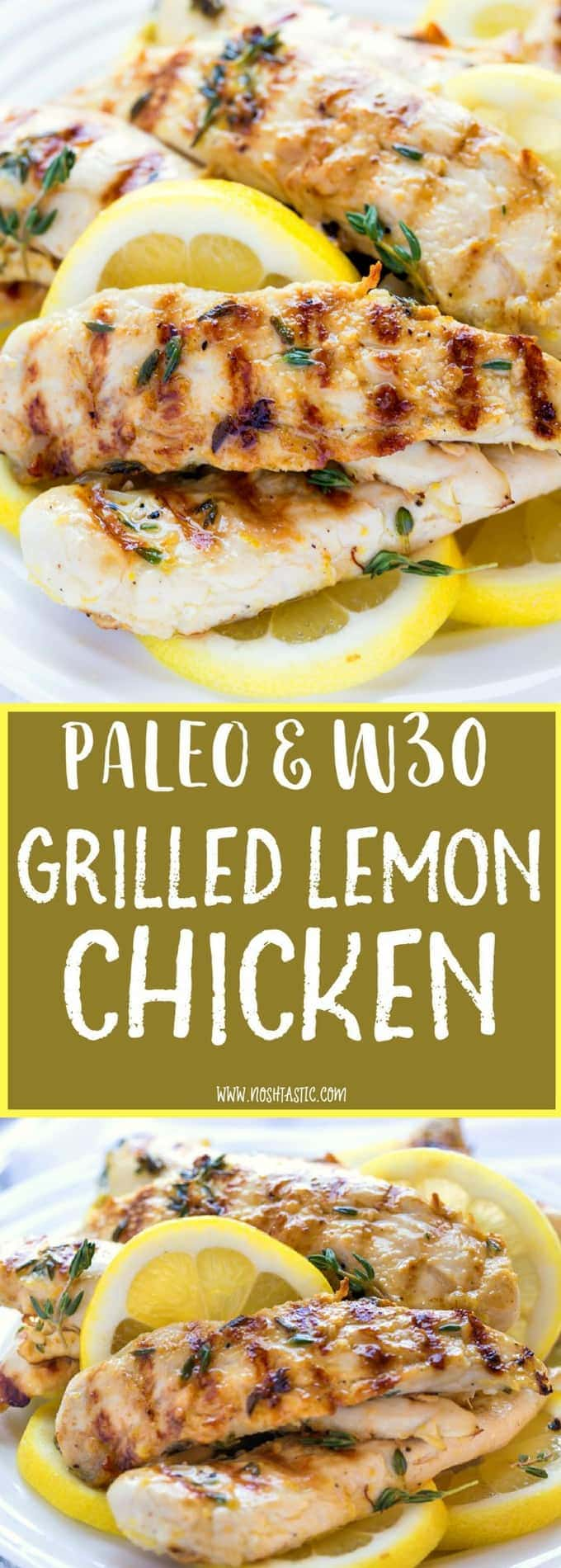 the BEST Grilled Paleo Lemon, such simple recipe made with garlic, lemon and thyme and cooked to perfection on the grill!