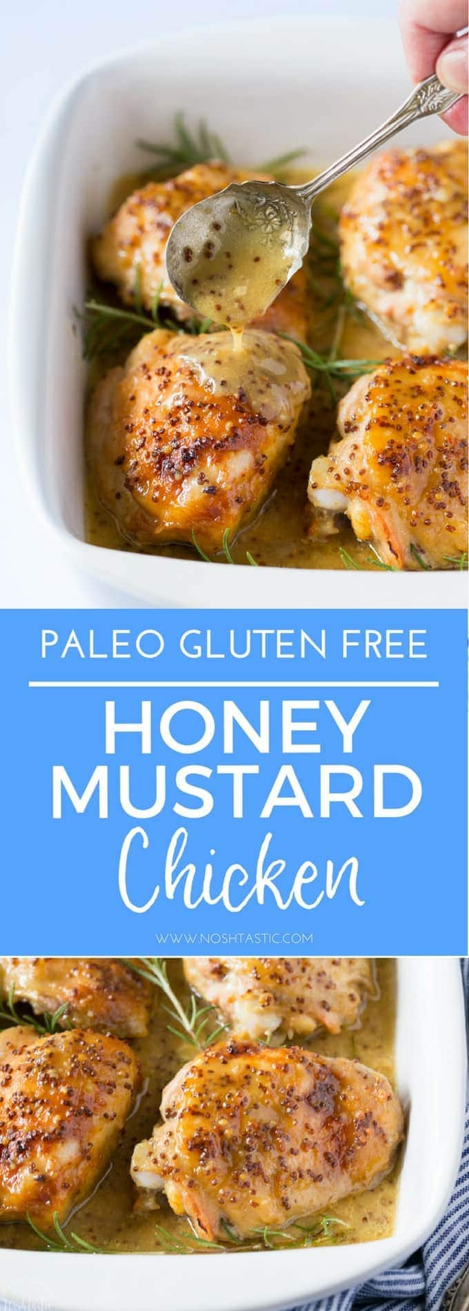 My Paleo Honey Mustard Chicken is so simple to prepare and cooks in the oven in about 45 minutes, It's such an easy weeknight dinner that your whole family will love! Gluten Free