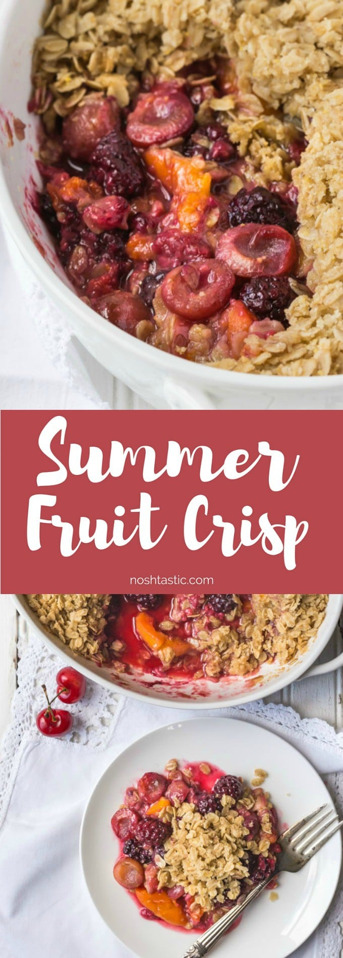Gluten Free Fruit Crisp is a perfect way to combine seasonal fruits for a really delicious baked dessert that is low enough in sugar per serving it also doubles as a healthy breakfast.This recipe is Vegan.