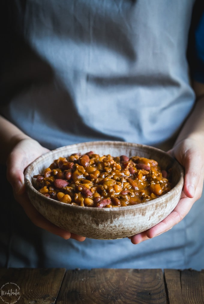Best Bbq Baked Beans With Beef Cowboy Beans Noshtastic