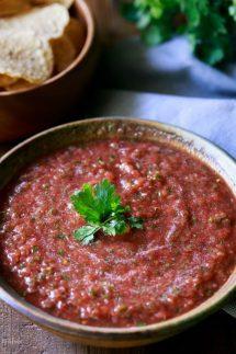 bowl of homemade salsa