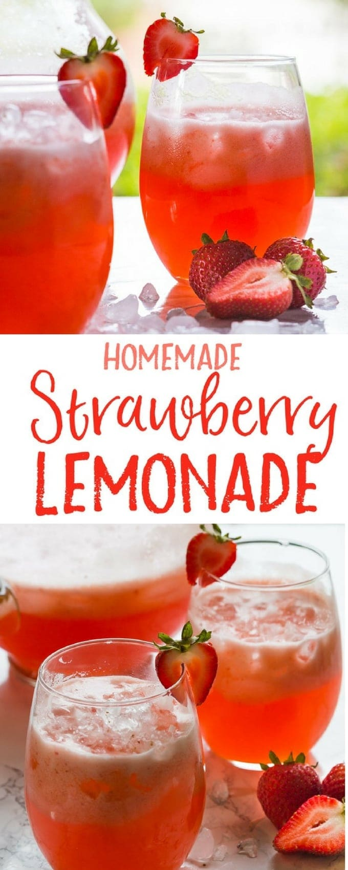 Make this Homemade Strawberry Lemonade in only FIVE minutes!! It's so good, you'll never want to go back to store bought! | gluten free, dairy free, vegan |