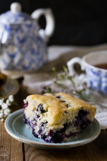 Perfect Gluten Free Blueberry Breakfast Cake, it's super easy to make from scratch and a real treat! It's dairy free too and you can freeze the leftover cake for later.