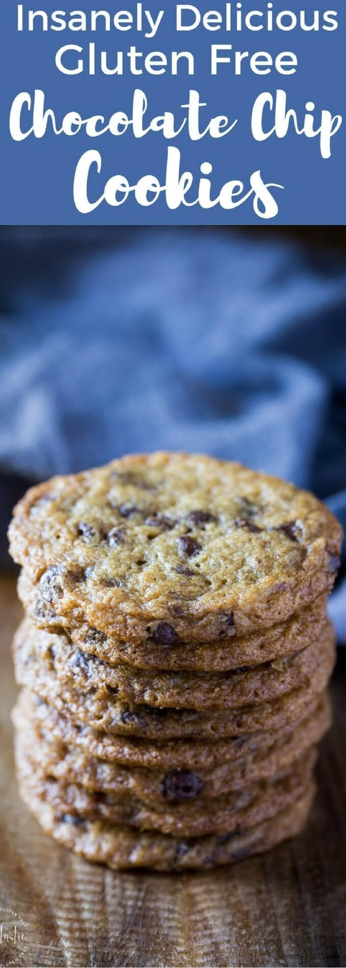 This is the only Gluten Free Chocolate Chip Cookies recipe you'll ever need, I promise! You'll never want to go back to store bought gluten free cookies again after you taste these, they are insanely delicious and have just the right amount of 'crunch', you'll love them!