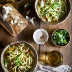 My Paleo Chicken Noodle Soup with zucchini noodles (or zoodles) can be made in 20 MINUTES! It's packed with flavor, is healthy, low carb, whole30 and gluten free too! only 4 weight watchers smart points.