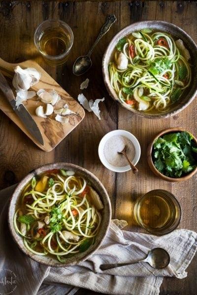 20 Minute Paleo Chicken Noodle  Soup
