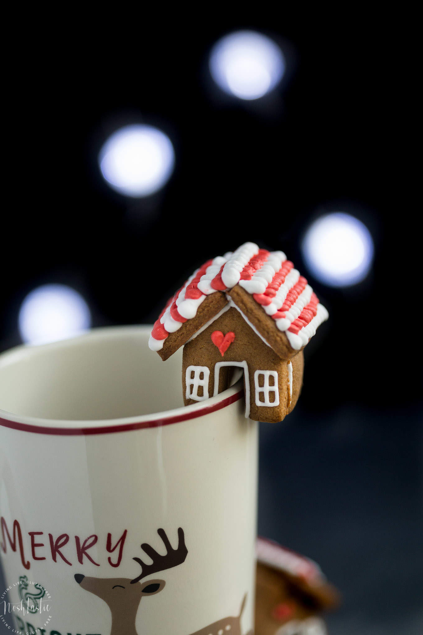 Mini Gingerbread House Mug Toppers Gluten Free