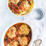 Pressure cooker Chicken Puttanesca Recipe is a breeze to make in your Instant Pot or other electric pressure cooker, it's a gluten free variation of the Italian dish Spaghetti alla puttanesca.