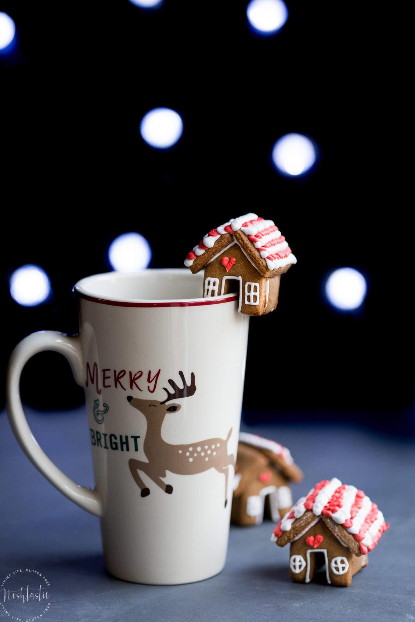 Mini Gingerbread House Mug Toppers Gluten Free