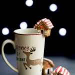 Mini Gingerbread House Mug Topper Cookies