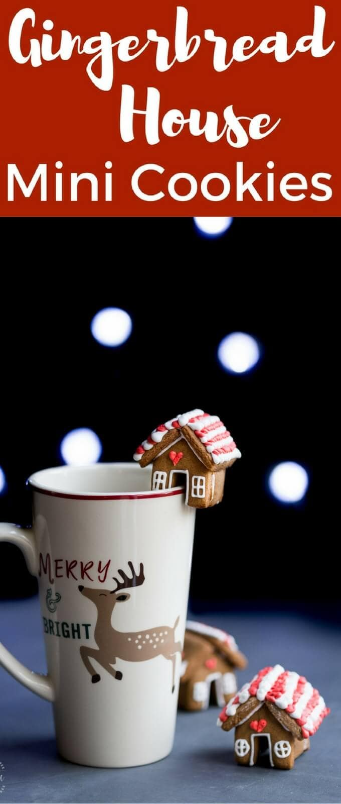 You can make these ADORABLE, cute, mini gingerbread house mug topper, Christmas Cookies, all the details are in the post! they are gluten free.