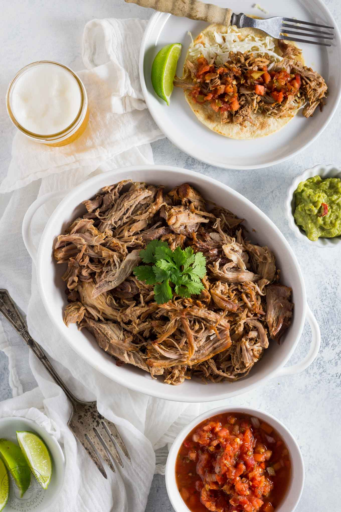 Try this Pressure Cooker Pulled Pork Carnitas recipe in your Instant Pot in a fraction of the time it takes in the oven!