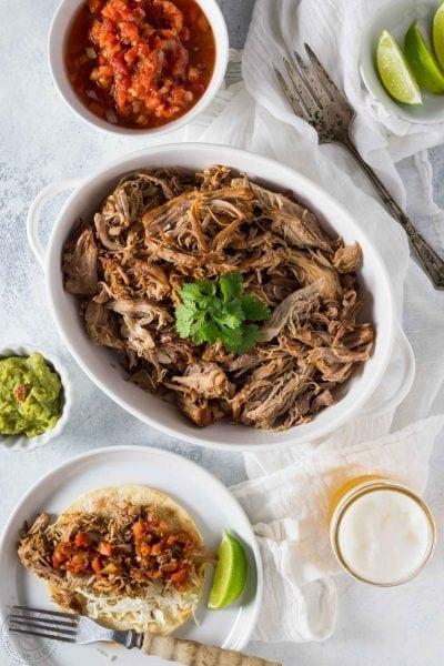 Pressure Cooker Pulled Pork Carnitas