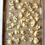 Paleo Roasted Cauliflower with Lemon, Thyme and Garlic