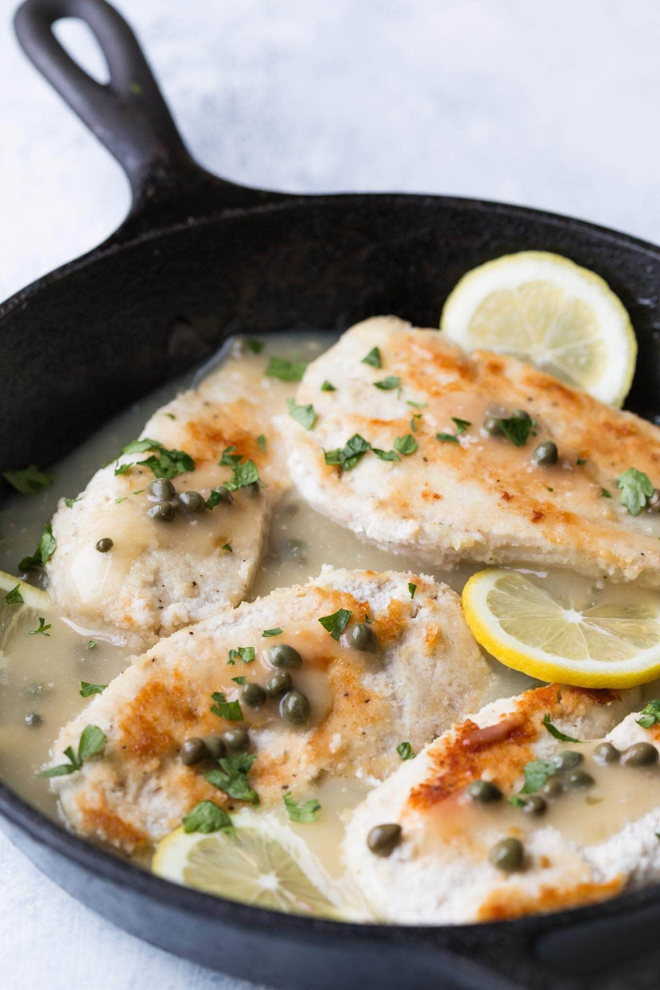 Easy Weeknight Whole30 Chicken Piccata,ready in less than 30 Minutes! This recipe is Paleo,Whole30, and low carb. Paleo Chicken Piccata