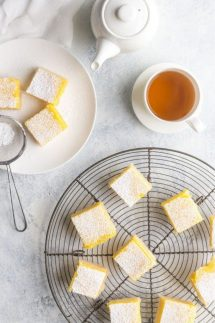 gluten free lemon bars recipe photo