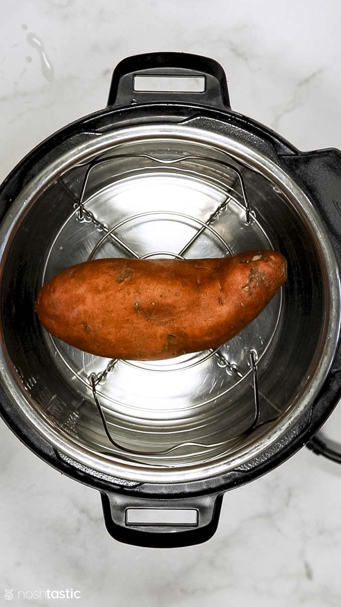 How to Make Instant Pot Sweet Potatoes Step 2