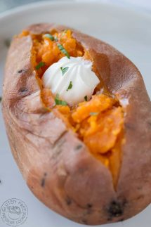 Whole sweet potatoes in an instant pot recipe