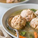 Pressure Cooker Italian Wedding Soup, this recipe is gluten free, paleo, Whole30, low carb and healthy, and is perfect to make in your Instant Pot or any other electric pressure cooker!