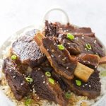 Pressure Cooker Korean Beef Short Ribs! They are fall apart tender, taste delicious and are easily made in your Instant Pot or other electric pressure cooker. This recipe is gluten free.
