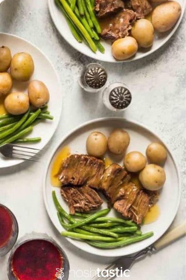 Instant pot pot roast on a plate