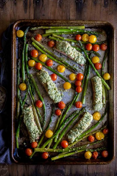 Salmon Gremolata With Roasted Vegetables