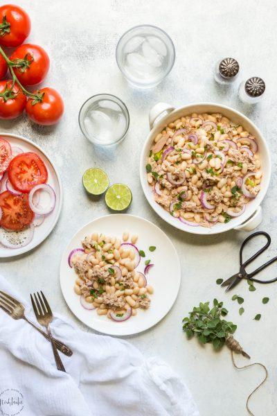 Tuna & White Bean Salad with Red Wine Vinaigrette