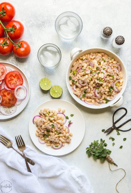Tuna White Bean Salad with Red Wine Vinaigrette