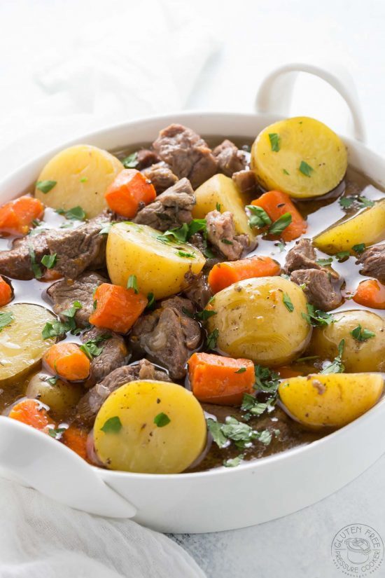 Irish stew in a bowl