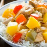Pressure Cooker Sweet and Sour Pork recipe that is cooked in LESS than 15 Minutes, perfect for a weeknight family meal and so much better than takeout! This recipe is very Paleo and very healthy, If you are not Paleo you can simply swap out the arrowroot for cornstarch, and coconut sugar for brown sugar instead.