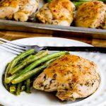 http://www.kalynskitchen.com/2016/09/roasted-lemon-chicken-green-beans-sheet-pan-meal.html