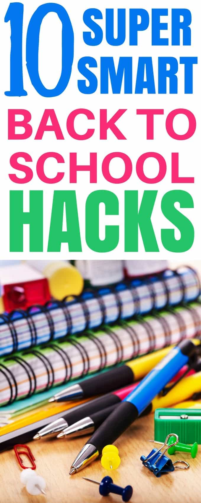 Get organized with THE BEST Smart Back to School Hacks that every Mom will Love! 10 ingenious tips that will help you breeze through the school week and plan ahead!